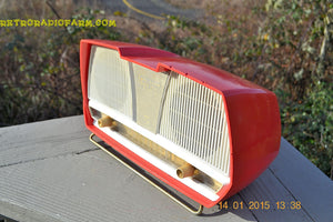 SOLD! - March 23, 2015 - SALMON Pink Mid Century Retro Jetsons Philips Twintone AM Vacuum Tube Radio Totally Restored! - [product_type} - Philips - Retro Radio Farm