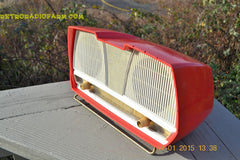 SOLD! - March 23, 2015 - SALMON Pink Mid Century Retro Jetsons Philips Twintone AM Vacuum Tube Radio Totally Restored! , Vintage Radio - Philips, Retro Radio Farm  - 4