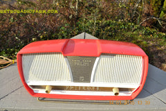 SOLD! - March 23, 2015 - SALMON Pink Mid Century Retro Jetsons Philips Twintone AM Vacuum Tube Radio Totally Restored! , Vintage Radio - Philips, Retro Radio Farm  - 2
