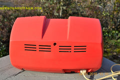SOLD! - March 23, 2015 - SALMON Pink Mid Century Retro Jetsons Philips Twintone AM Vacuum Tube Radio Totally Restored! , Vintage Radio - Philips, Retro Radio Farm  - 11