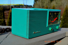 SOLD! - March 22, 2015 - MID CENTURY MARVEL Retro Jetsons Vintage Turquoise 1959 Airline DSE1625A AM Tube Radio Totally Restored! , Vintage Radio - Airline, Retro Radio Farm  - 6
