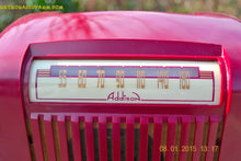 Load image into Gallery viewer, SOLD! - Jan 23, 2015 - CRANBERRY COCKTAIL Art Deco Industrial Retro 1948 Addison Model 55 Bakelite AM Tube AM Radio WORKS! - [product_type} - Addison - Retro Radio Farm