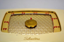 Load image into Gallery viewer, Ivory Cream Silvertone 1951 Model 6 AM Tube Bakelite Radio Plays Like A Champ! - [product_type} - Silvertone - Retro Radio Farm