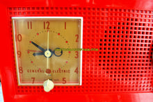 Load image into Gallery viewer, SOLD! - Dec 9, 2017 - RED HOT RED Mid Century Retro Vintage 1954 General Electric Model 556 AM Tube Radio Gorgeous! - [product_type} - General Electric - Retro Radio Farm