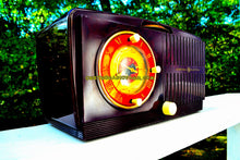 Load image into Gallery viewer, SOLD! - Nov 20, 2017 - BLUETOOTH MP3 READY - Brown Swirly Mid Century Vintage 1952 General Electric Model 542 AM Brown Bakelite Tube Clock Radio Works and Looks Great!