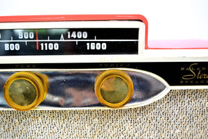 1959 Silvertone 9009 AM Antique Radio in Coral Pink - [product_type} - Silvertone - Retro Radio Farm
