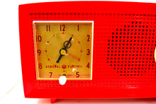 Load image into Gallery viewer, RED HOT RED Antique Retro Vintage 1954 General Electric Model 556 AM Tube Radio Gorgeous! - [product_type} - General Electric - Retro Radio Farm