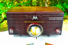 Load image into Gallery viewer, SOLD! - Nov 29, 2017 - ESPRESSO Mid Century Retro Jetsons 1957 Motorola 56H Turbine Tube AM Radio Marbled Sounds Great! - [product_type} - Motorola - Retro Radio Farm