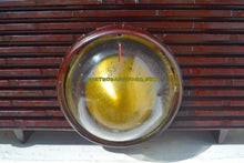 Load image into Gallery viewer, SOLD! - Nov 29, 2017 - ESPRESSO Mid Century Retro Jetsons 1957 Motorola 56H Turbine Tube AM Radio Marbled Sounds Great!