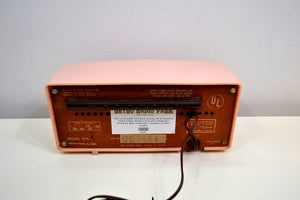 SOLD! - Jan. 8, 2020 - Powder Pink 1957 Motorola 57R Tube AM Antique Radio Real Gem Crack Free! - [product_type} - Motorola - Retro Radio Farm