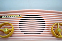 Load image into Gallery viewer, SOLD! - Jan. 8, 2020 - Powder Pink 1957 Motorola 57R Tube AM Antique Radio Real Gem Crack Free! - [product_type} - Motorola - Retro Radio Farm