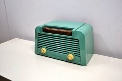 Cerulean Bakelite 1950 Motorola Model 57M Tube AM Antique Radio Nice Looking Great Sounding! - [product_type} - Motorola - Retro Radio Farm