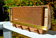 Load image into Gallery viewer, SOLD! - Nov 26, 2017 - BLUETOOTH MP3 READY - Beige Pink Mid Century Retro Antique Vintage 1957 Silvertone Model 9013 AM Tube Radio Totally Restored! - [product_type} - Silvertone - Retro Radio Farm