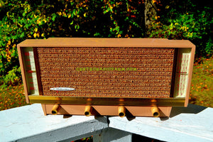 SOLD! - Nov 26, 2017 - BLUETOOTH MP3 READY - Beige Pink Mid Century Retro Antique Vintage 1957 Silvertone Model 9013 AM Tube Radio Totally Restored! - [product_type} - Silvertone - Retro Radio Farm