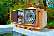 Load image into Gallery viewer, SOLD! - Oct 27, 2017 - TWILIGHT SPARKLE Purple And Pink Mid Century Retro 1963 Motorola Model C4P-143 Tube AM Clock Radio Rare Colors! - [product_type} - Motorola - Retro Radio Farm