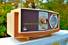 Load image into Gallery viewer, SOLD! - Oct 27, 2017 - TWILIGHT SPARKLE Purple And Pink Mid Century Retro 1963 Motorola Model C4P-143 Tube AM Clock Radio Rare Colors!
