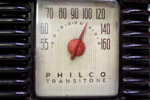 Load image into Gallery viewer, SOLD! - Oct. 30, 2019 - Art Deco Brown Bakelite Vintage 1946 Philco Transitone 46-200 AM Radio Popular Design Back In Its Day and Today! - [product_type} - Philco - Retro Radio Farm