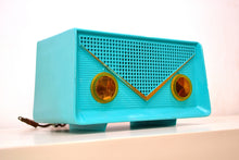 Load image into Gallery viewer, SOLD! - Oct. 22, 2018 - Turquoise 1959 Olympic Model 550-551 Tube AM Antique Radio - [product_type} - Olympic - Retro Radio Farm