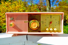 Load image into Gallery viewer, SOLD! - Dec 8, 2017 - MARILYN PINK Mid Century Vintage Retro 1956 Motorola 56CD Tube AM Clock Radio Real Looker! - [product_type} - Motorola - Retro Radio Farm