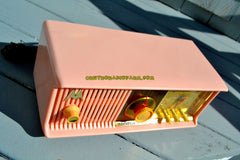 SOLD! - Dec 8, 2017 - MARILYN PINK Mid Century Vintage Retro 1956 Motorola 56CD Tube AM Clock Radio Real Looker!