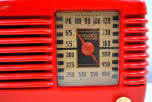 Load image into Gallery viewer, SOLD! - Oct 24, 2019 - Stunning Apple Red Bakelite Vintage 1946 Philco Transitone 48-200 AM Radio Popular Design Back In Its Day and Today! - [product_type} - Philco - Retro Radio Farm