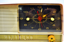 Load image into Gallery viewer, SOLD! - Feb 10, 2020 - Fairlane Pink 1956 RCA Victor 8-C-7FE Vintage Tube AM Clock Radio Very Fair Indeed! - [product_type} - RCA Victor - Retro Radio Farm
