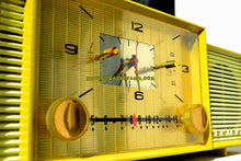 Load image into Gallery viewer, SOLD! - Nov 5, 2017 - MELLOW YELLOW Mid Century Vintage Retro 1959 Admiral 296 Tube AM Clock Radio Sounds Great! Rare Color! - [product_type} - Admiral - Retro Radio Farm