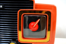 Load image into Gallery viewer, SOLD! - Oct 29, 2019 - Marzano Red Orange 1953 Zenith Model L622F AM Vintage Tube Radio Gorgeous Looking and Sounding!