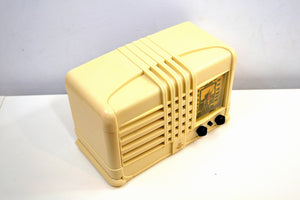 SOLD! - Nov 29, 2019 - Castle Ivory 1940 Model 343 Vintage Emerson AM Shortwave Golden Age Radio Looks and Sounds Spectacular! - [product_type} - Emerson - Retro Radio Farm
