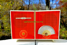 Load image into Gallery viewer, SOLD! - Dec 9, 2017 - WACKY LOOKING Coral And White  Retro Jetsons Vintage 1958 Philco G826-124 AM Tube Radio Looks Awesome! - [product_type} - Philco - Retro Radio Farm
