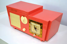 Load image into Gallery viewer, SOLD! - Dec 7, 2018 - Coral Pink 1955 Coronado Model 5CC Antique Clock Radio - [product_type} - Coronado - Retro Radio Farm