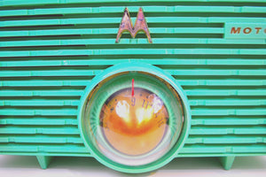 Sea Foam Green 1957 Motorola 56H Turbine Vintage Tube AM Radio Mint! - [product_type} - Motorola - Retro Radio Farm