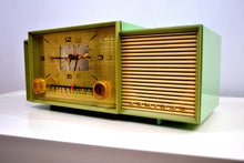 Load image into Gallery viewer, Beautiful Pastel Green 1958 Admiral 298 Antique Tube AM Clock Radio - [product_type} - Admiral - Retro Radio Farm