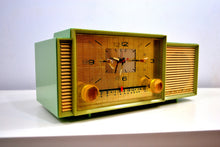 Load image into Gallery viewer, SOLD! - Feb. 6, 2019 - Beautiful Pastel Green 1958 Admiral 298 Antique Tube AM Clock Radio - [product_type} - Admiral - Retro Radio Farm