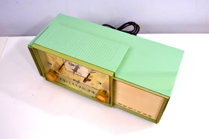 Beautiful Pastel Green 1958 Admiral 298 Antique Tube AM Clock Radio - [product_type} - Admiral - Retro Radio Farm