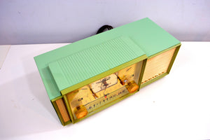 SOLD! - Feb. 6, 2019 - Beautiful Pastel Green 1958 Admiral 298 Antique Tube AM Clock Radio - [product_type} - Admiral - Retro Radio Farm