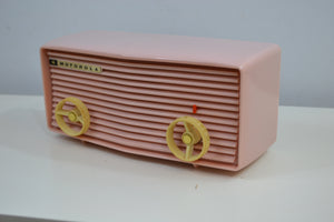 Powder Pink 1957 Motorola 57R Tube AM Antique Radio - [product_type} - Motorola - Retro Radio Farm
