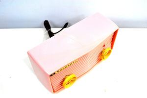 Powder Pink 1957 Motorola 57R Tube AM Antique Radio Real Cutie! - [product_type} - Motorola - Retro Radio Farm