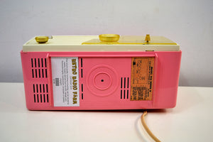 Cameo Pink 1958 Emerson Model 916-B Tube AM Clock Radio Sounds Great! - [product_type} - Emerson - Retro Radio Farm