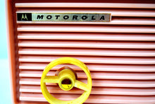 Load image into Gallery viewer, SOLD! - Aug 16, 2019 - Powder Pink 1957 Motorola 57R Tube AM Antique Radio Real Cutie! - [product_type} - Motorola - Retro Radio Farm