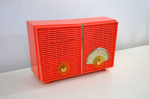 SOLD! - Apr 6, 2019 - Vintage 1958 Philco G826-124 AM Tube Radio in 'Flame' - [product_type} - Philco - Retro Radio Farm