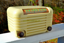 Load image into Gallery viewer, SOLD! - Nov 15, 2017 - BLUETOOTH MP3 Ready - ANTIQUE IVORY Vintage Deco Retro 1946 Hoffman Model A200 AM Bakelite Tube Radio Excellent Working Condition! - [product_type} - Hoffman - Retro Radio Farm