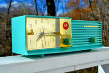 Load image into Gallery viewer, SOLD! - Dec 6, 2017 - LAGUNA AQUA Bi-level Retro Jetsons 1957 Motorola 57CD4A Tube AM Clock Radio Works Great! - [product_type} - Motorola - Retro Radio Farm
