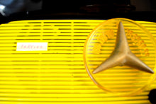 Load image into Gallery viewer, Black and Yellow 1959 Travler Model T-204 AM Tube Radio Cute As A Button! - [product_type} - Travler - Retro Radio Farm