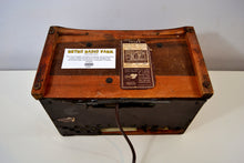 Load image into Gallery viewer, SOLD! - Dec 1, 2019 - Flying Wedge Post War Vintage 1949 Philco Transitone Model 49-506 AM Radio Sounds Great Hardwood Cabinet!