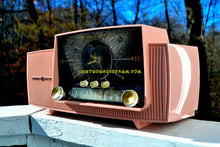 Load image into Gallery viewer, SOLD! - Jan. 5, 2018 - ROSE PINK Mid Century Jetsons 1959 General Electric Model 915 Tube AM Clock Radio Totally Restored! - [product_type} - General Electric - Retro Radio Farm