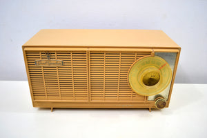 SOLD! - Jan 17, 2020 - Butterscotch Blonde Dual Speaker 1960 General Electric Model T-141A Tube Radio Don't Judge A Book By Its Cover! - [product_type} - General Electric - Retro Radio Farm