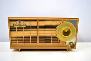 SOLD! - Jan 17, 2020 - Butterscotch Blonde Dual Speaker 1960 General Electric Model T-141A Tube Radio Don't Judge A Book By Its Cover!