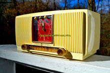 Load image into Gallery viewer, SOLD! - Dec 9, 2017 - BLUETOOTH MP3 READY Ivory Vanilla 1955 General Electric Model 573 Retro AM Clock Radio Works Great! - [product_type} - General Electric - Retro Radio Farm