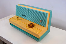 Load image into Gallery viewer, SOLD! - Nov. 25, 2018 - Mermaid Turquoise Vintage 1960 Sylvania Model 5C12 AM Radio - [product_type} - Sylvania - Retro Radio Farm